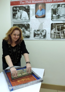 Rachel Shipley Screen Printing at Oglebay Institute's Stifel Fine Arts Center